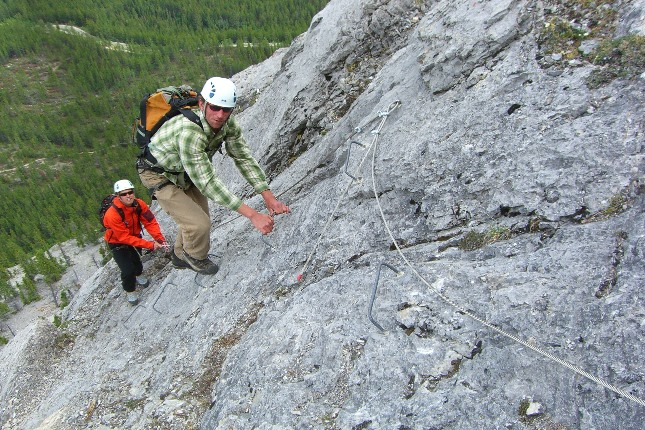 Guided Via Ferrata trips in the Canadain Rockies